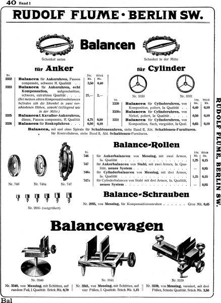 FLUME Katalog 1887-1912